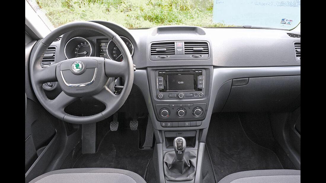 Skoda Yeti Greenline, Cockpit