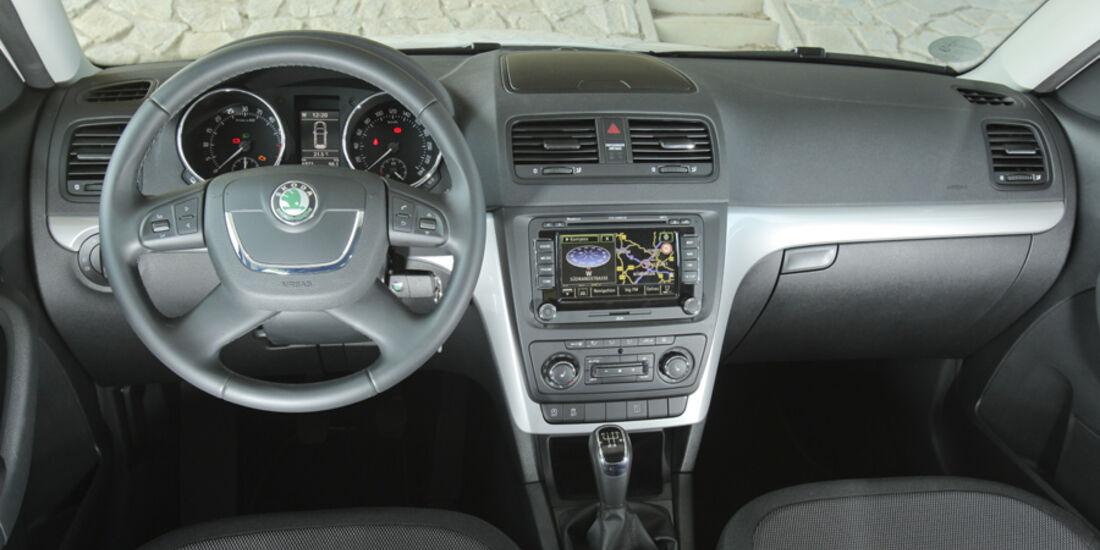 Skoda Yeti Greenline, Innenraum, Cockpit