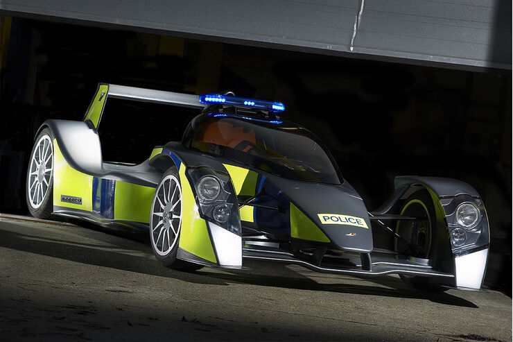 Skurrile Polizeiautos, Caparo T1, Streifenwagen