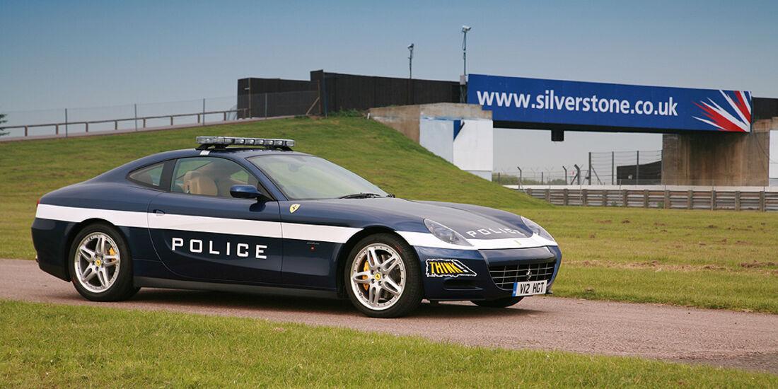 Skurrile Polizeiautos, Streifenwagen, Ferrari 612 Scaglietti