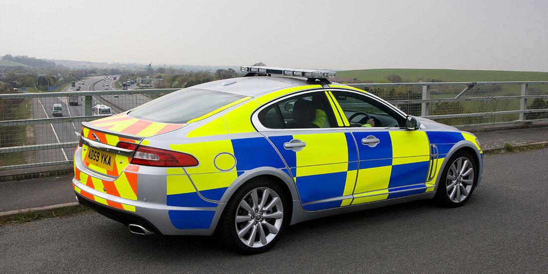 Skurrile Polizeiautos, Streifenwagen, Jaguar XF