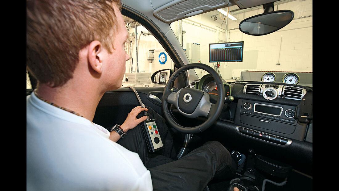 Smart ED, Innenraum, Cockpit