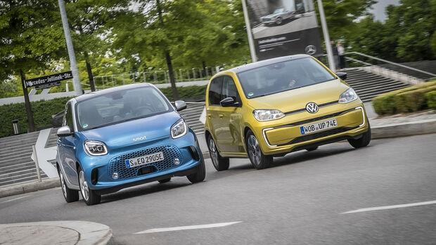 Smart EQ Forfour Passion, VW e-Up Style, Exterieur