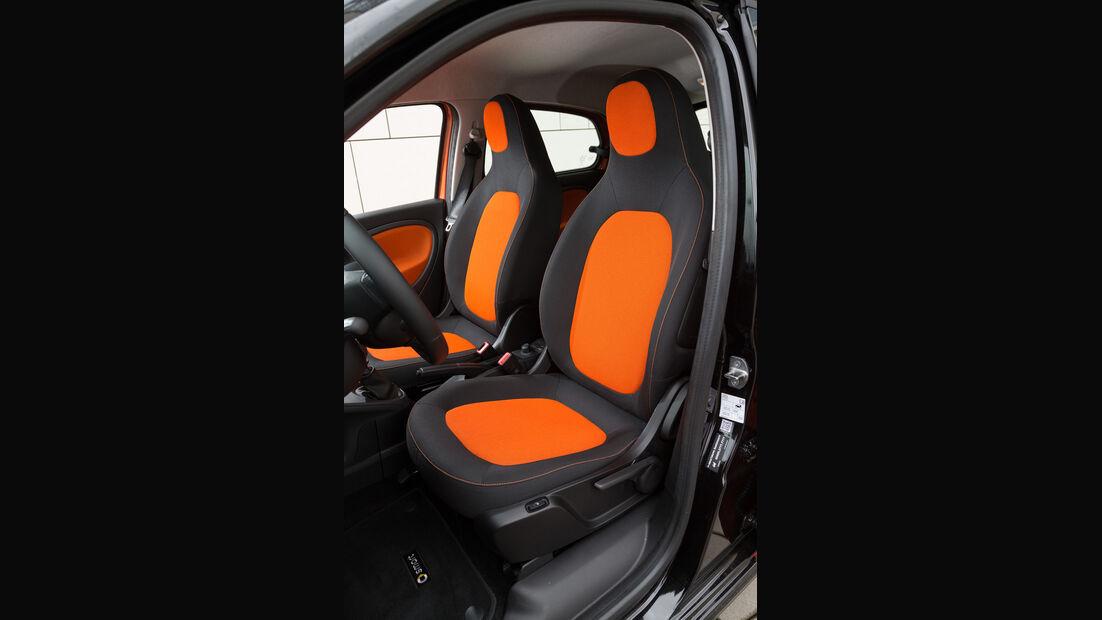 Smart Forfour 0.9, Fahrersitz