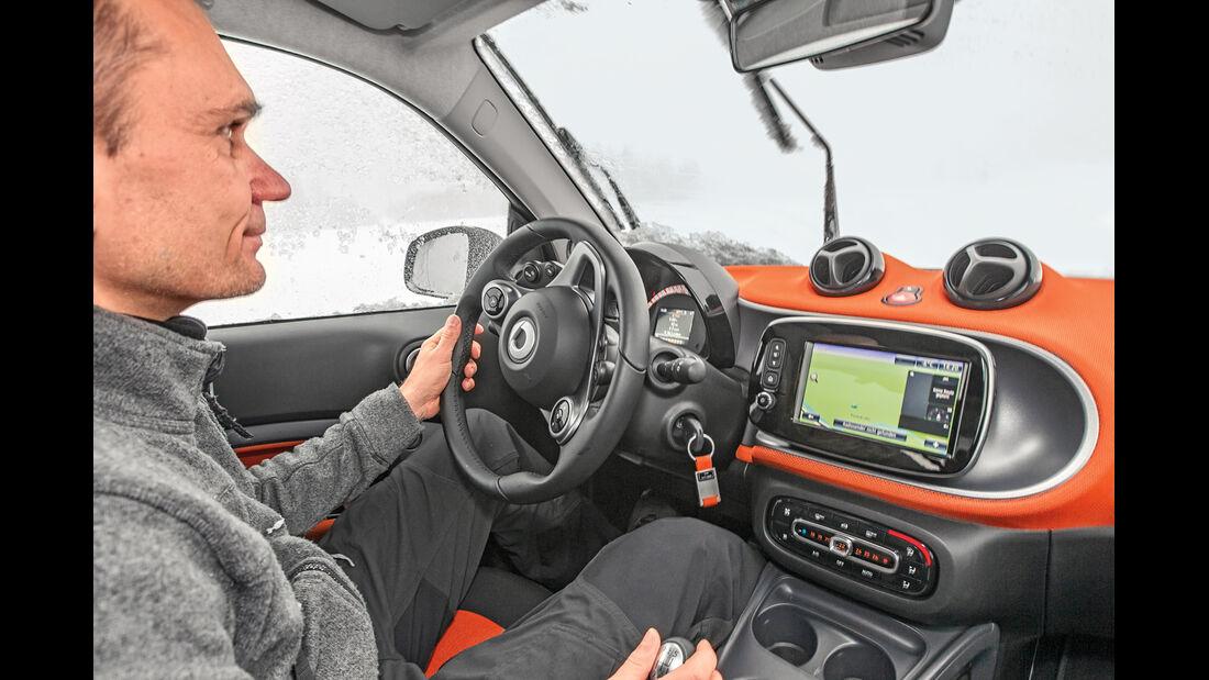 Smart Fortwo 0.9, Cockpit