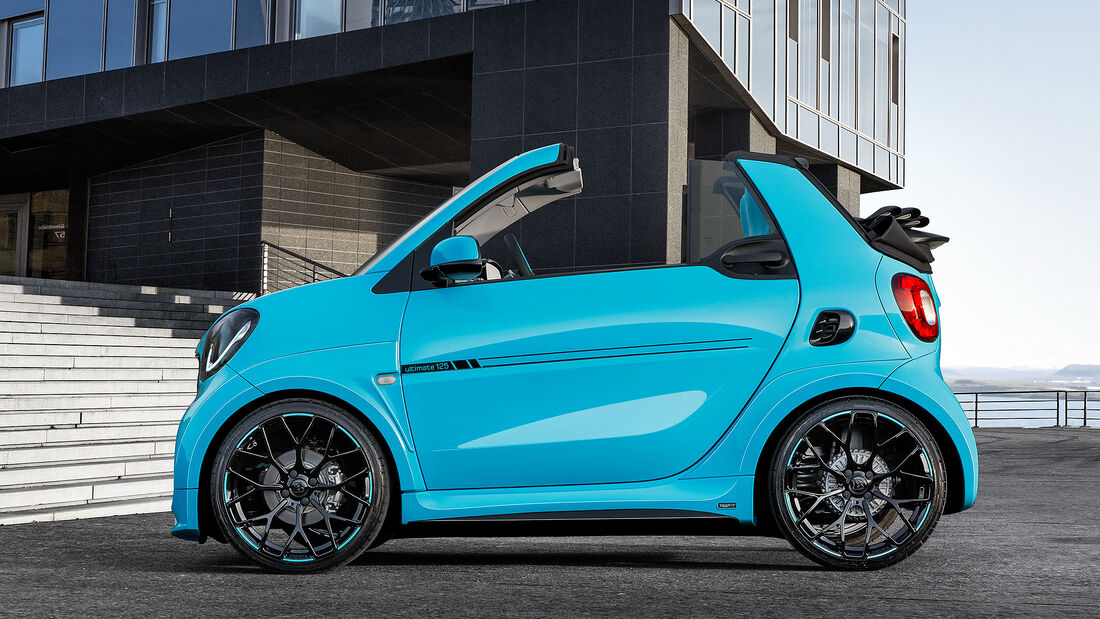 smart fortwo brabus ultimate 125 cabrio 125 ps im kleinstwagen auto motor und sport. Black Bedroom Furniture Sets. Home Design Ideas