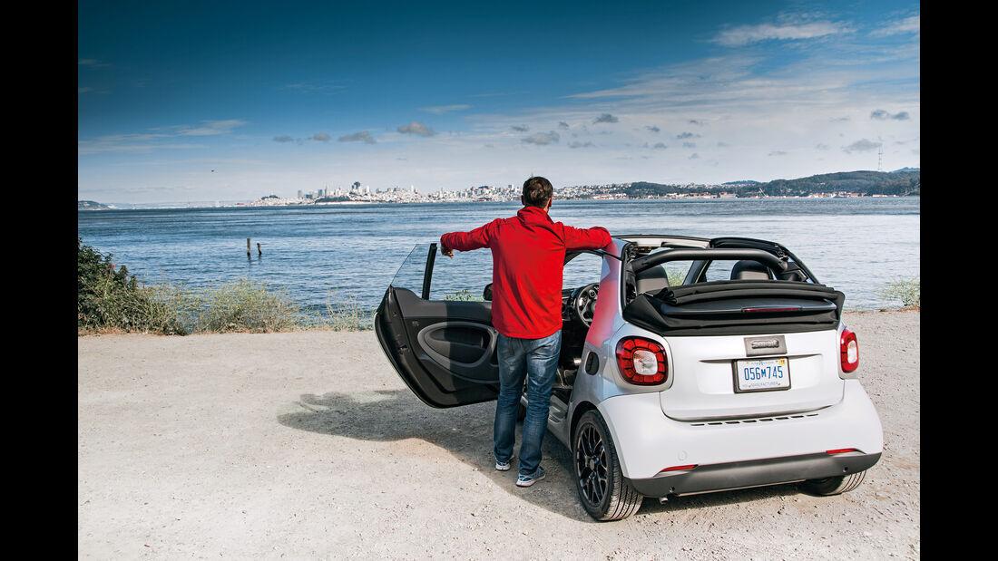 Smart Fortwo Cabrio 0.9, Heckansicht