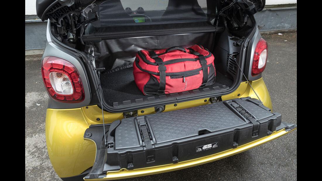 Smart Fortwo Cabrio, Kofferraum