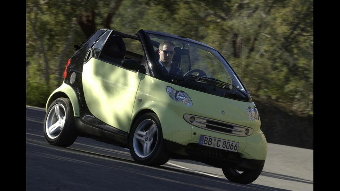 Smart Fortwo Cabrio, gelb, Kurve