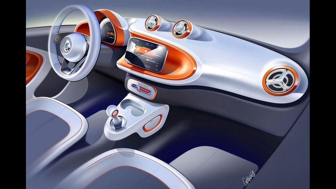 Smart Fortwo Designskizze