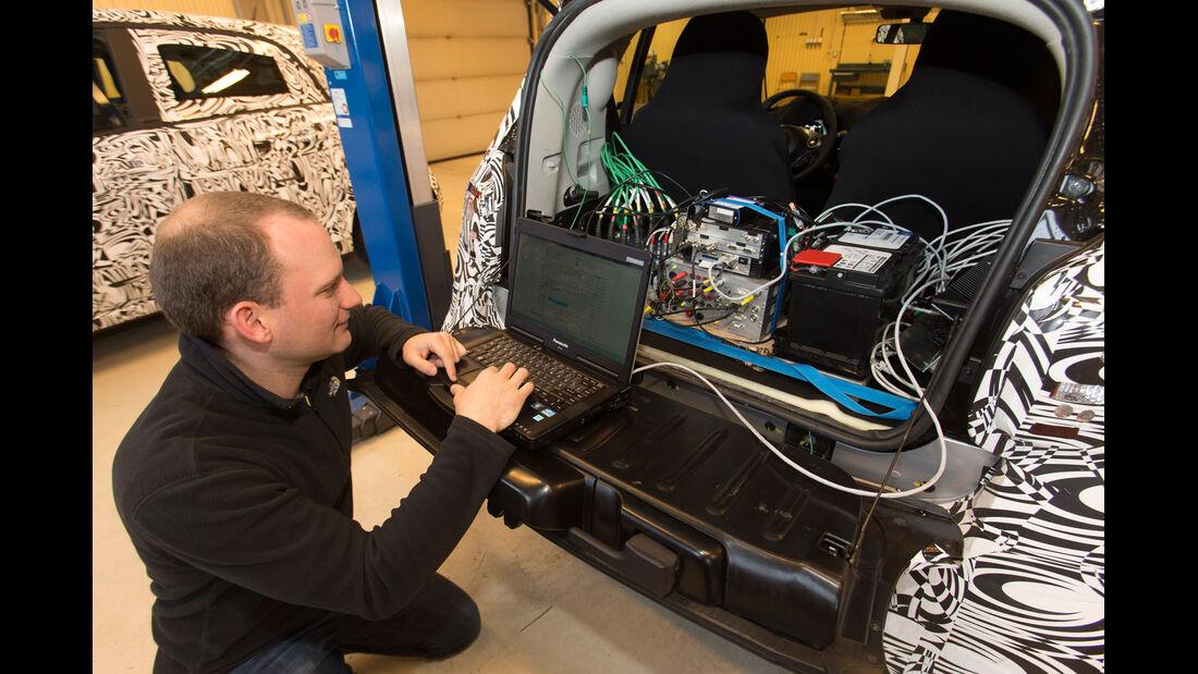 Smart Fortwo, Elektronik, Testaufbau