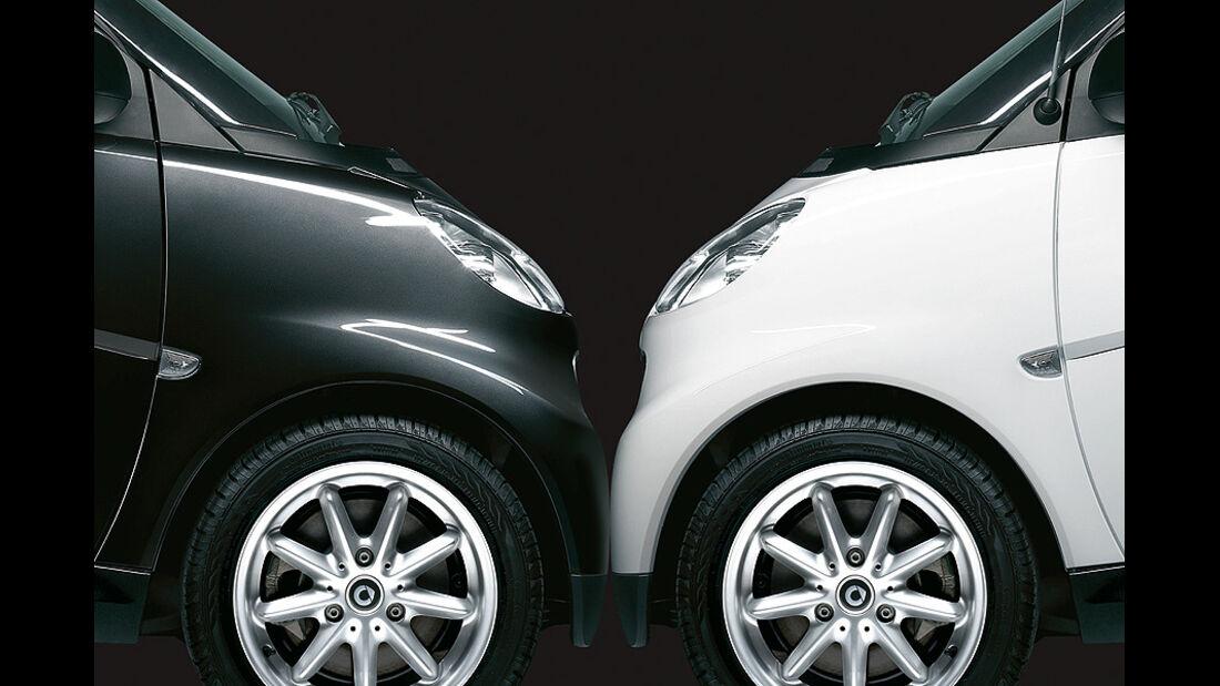 """Smart Fortwo """"black&white limited"""" Sondermodell"""