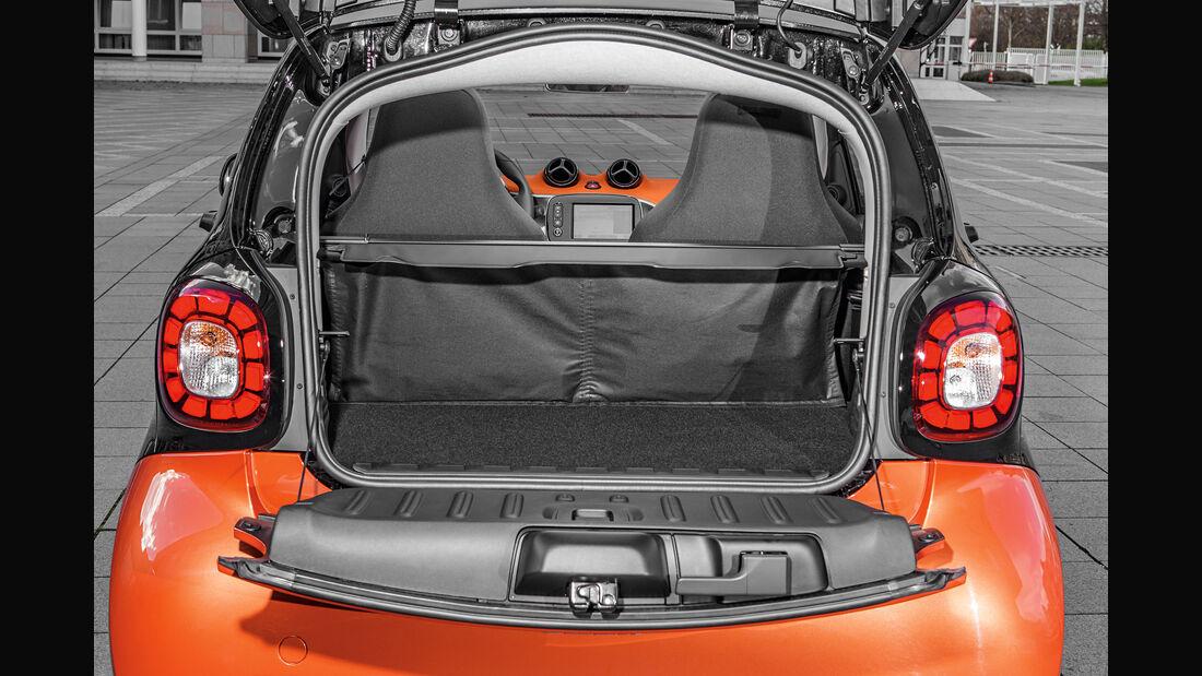 Smart, Kofferraum