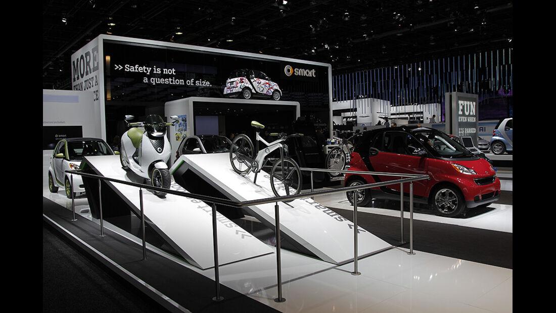 Smart Messestand, Detroit Motor Show, Rundgang