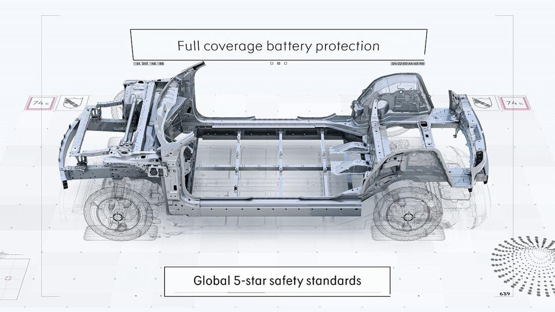Smart SUV Technische Zeichnung Chassis