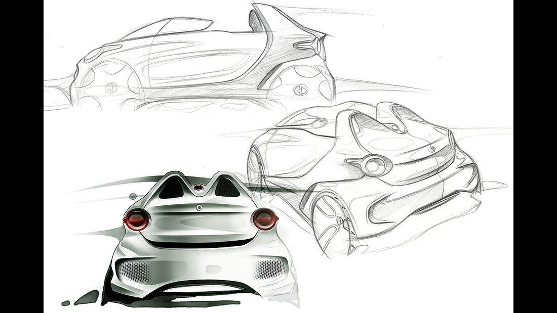 Smart forspeed, Sketch, Designzeichnung