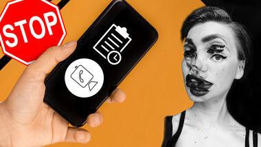 Smartphone Zoom Zombie Video Konferenz Termin Stop