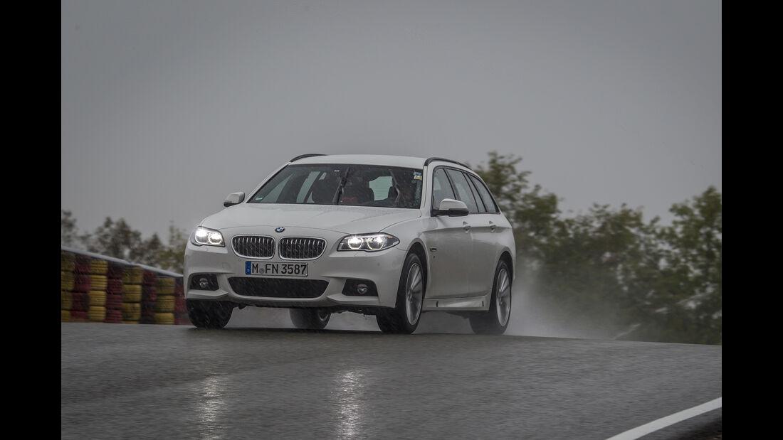 Sommerreifen-Test 2017, Nässe Fahrversuch, BMW 5er Touring