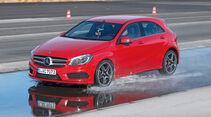 Sommerreifen-Test, Mercedes A 250, Nässe, Bremsen