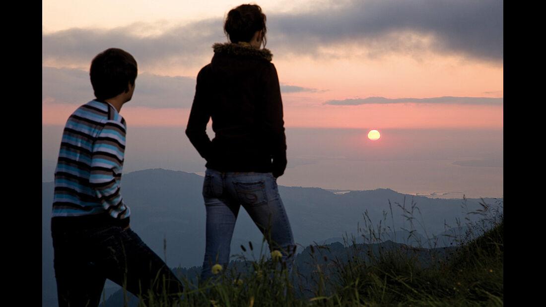 Sonnenuntergang am Diedamskopf