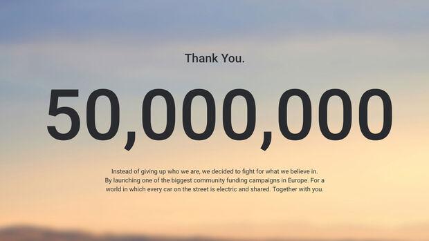 Sono Motors Sion 50 Millionen Kampagne