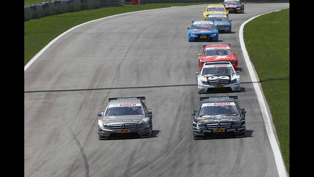 Spengler, Paffett, Engel, van der Zande, Mercedes C-Klasse DTM, DTM, Spielberg 2011