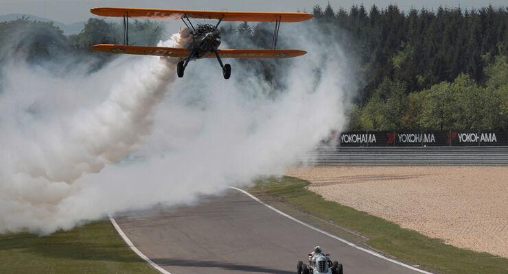 Sport, Nuerburgring Revival, Mother Gun, Paraffin, Doppeldecker, Flugzeug, Alfa