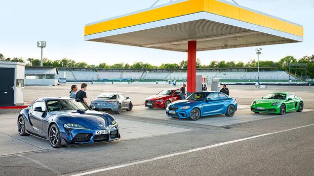 Sportliche Coupes von Alpine, AMG, BMW, Porsche, Toyota, Exterieur