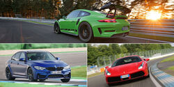 Sportwagen - Bremstest - Aufmacher