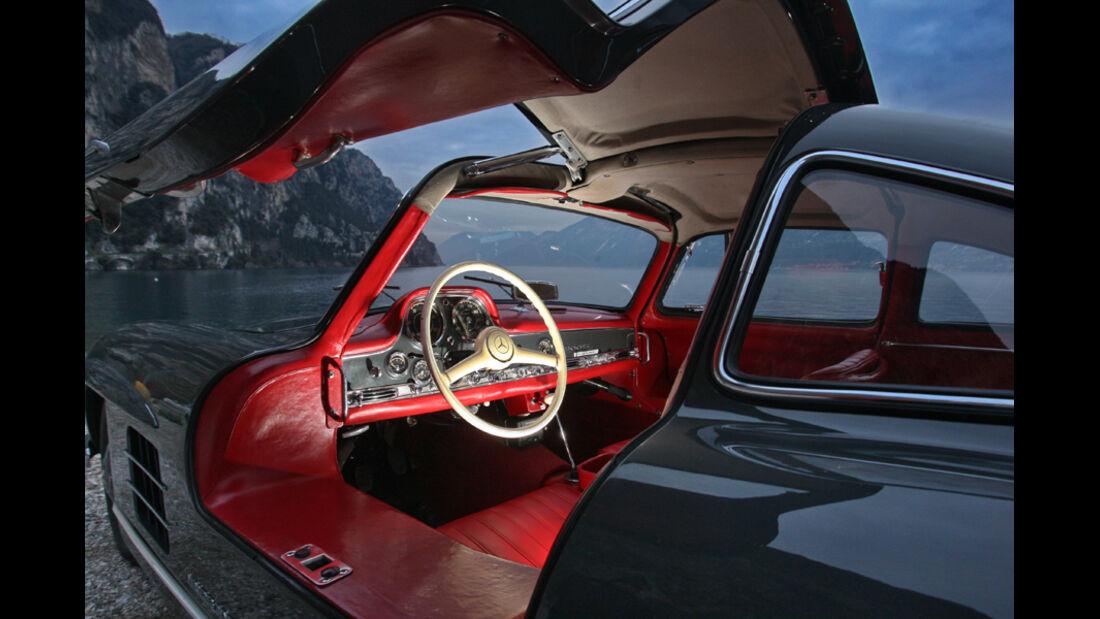 Sportwagen, Mercedes 300 SL, Innenraum