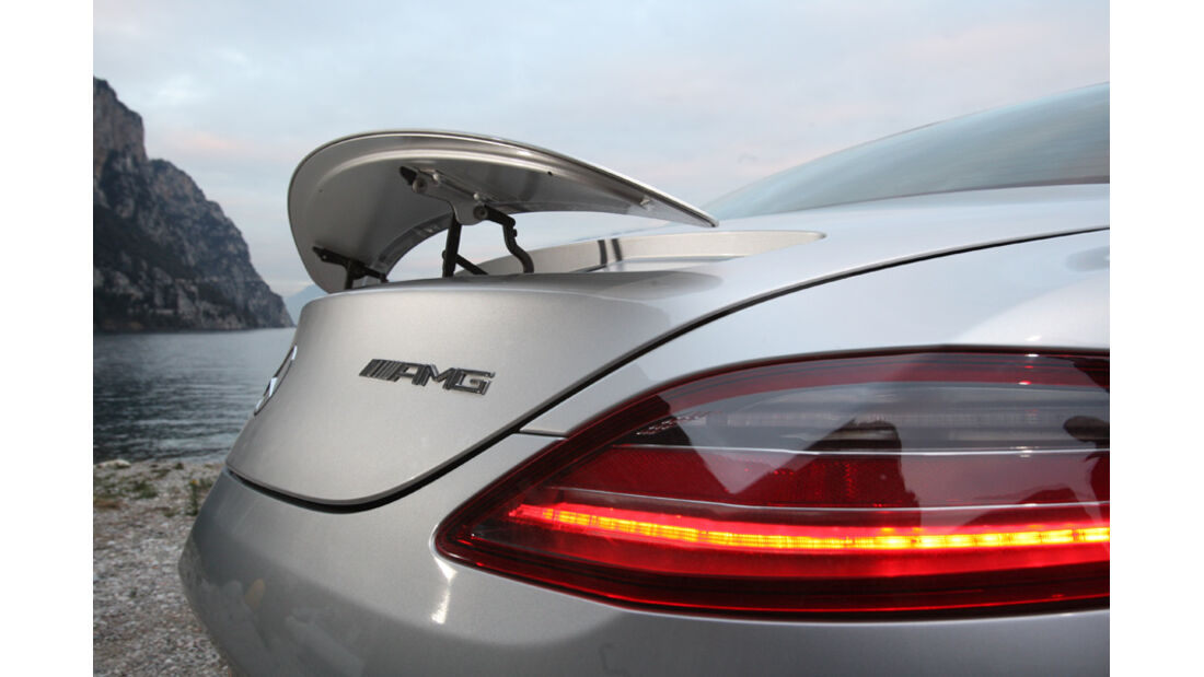Sportwagen, Mercedes SLS AMG, Heckspoiler