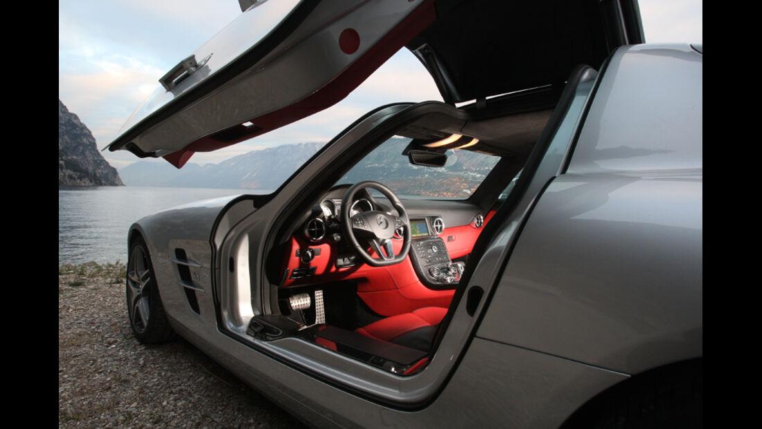 Sportwagen, Mercedes SLS AMG, Innenraum