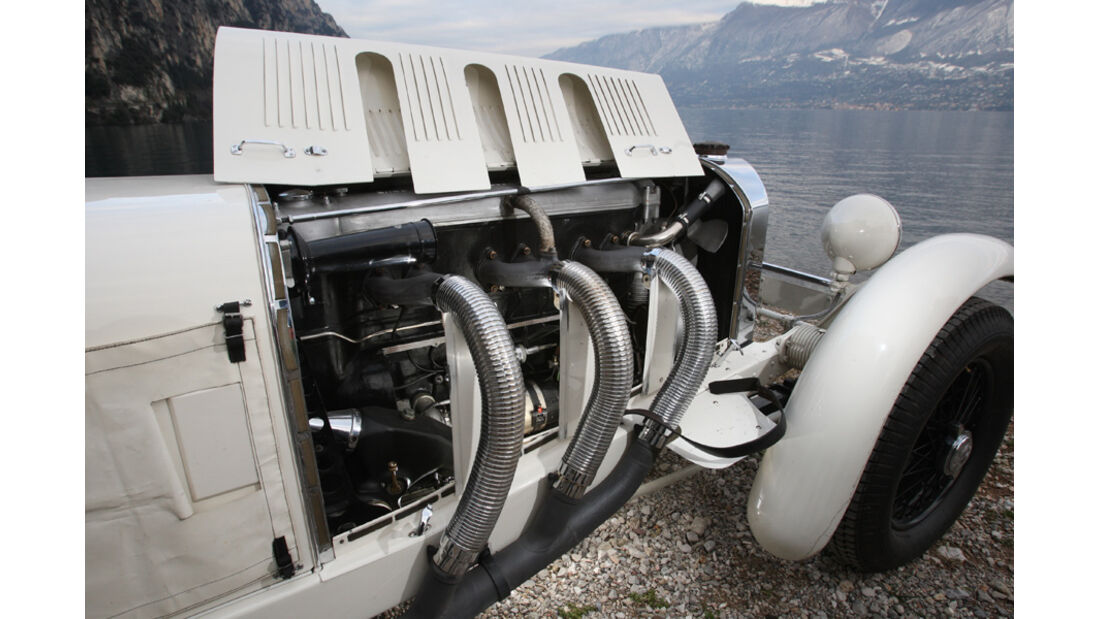 Sportwagen, Mercedes SSK, Auspuffschlagen