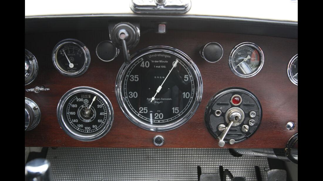 Sportwagen, Mercedes SSK, Cockpit