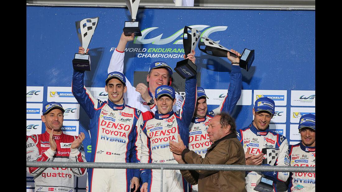 Sportwagen-Weltmeisterschaft (WEC) in Spa Toyota Podium