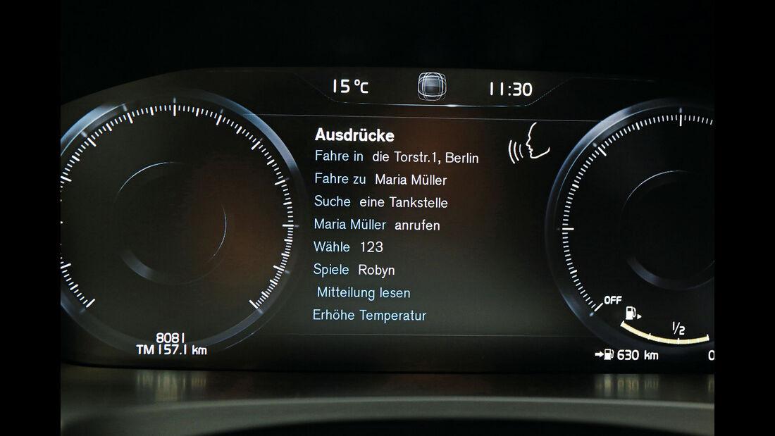Sprachbedienung Test AMS1317 Volvo V90