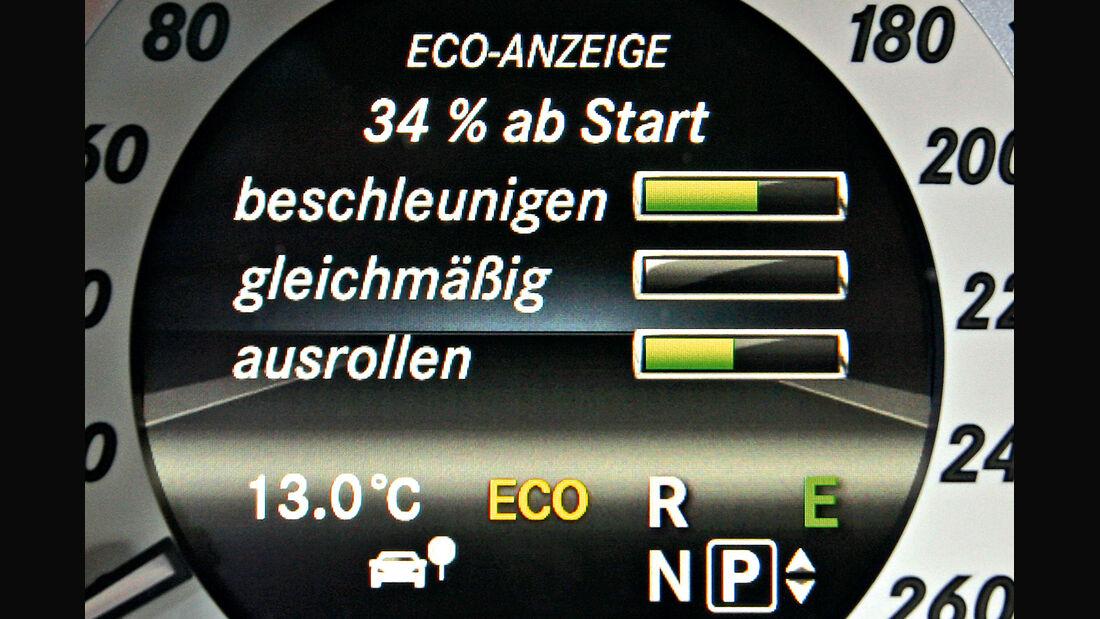 Spritspar-Anzeigen, Mercedes