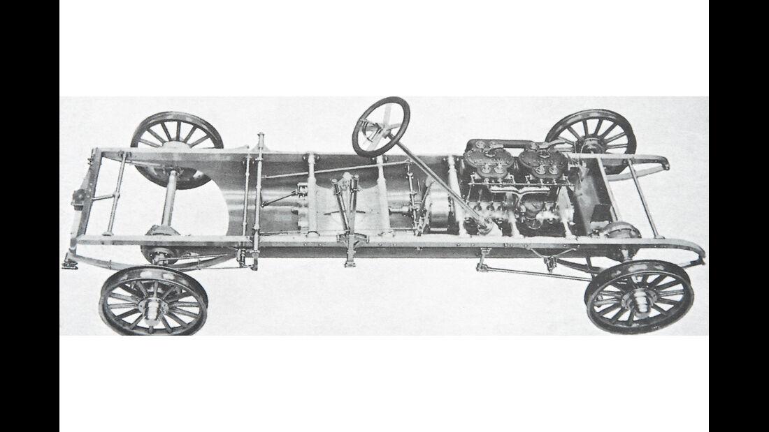 Spyker, Vierzylinder, Chassis
