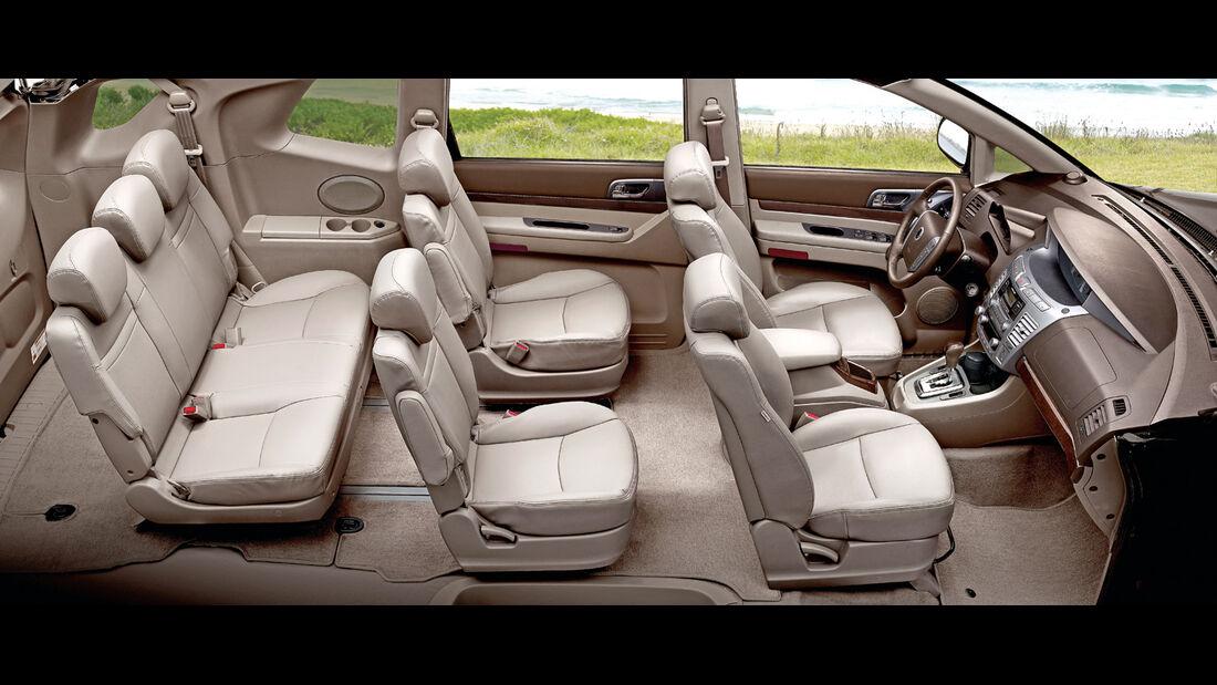 SsangYong Rodius e-XDi 200, Sitze, Stuhlreihen