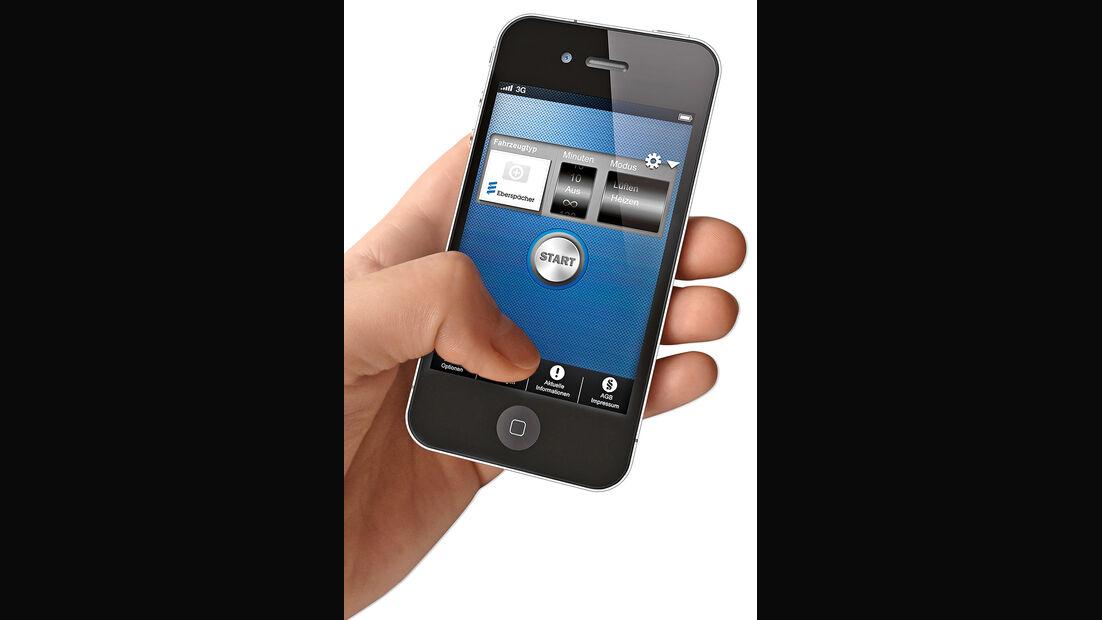 Standheizung, App, Handy