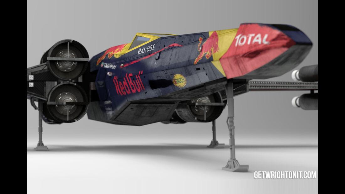 Star Wars X-Wing im F1-Design - Red Bull