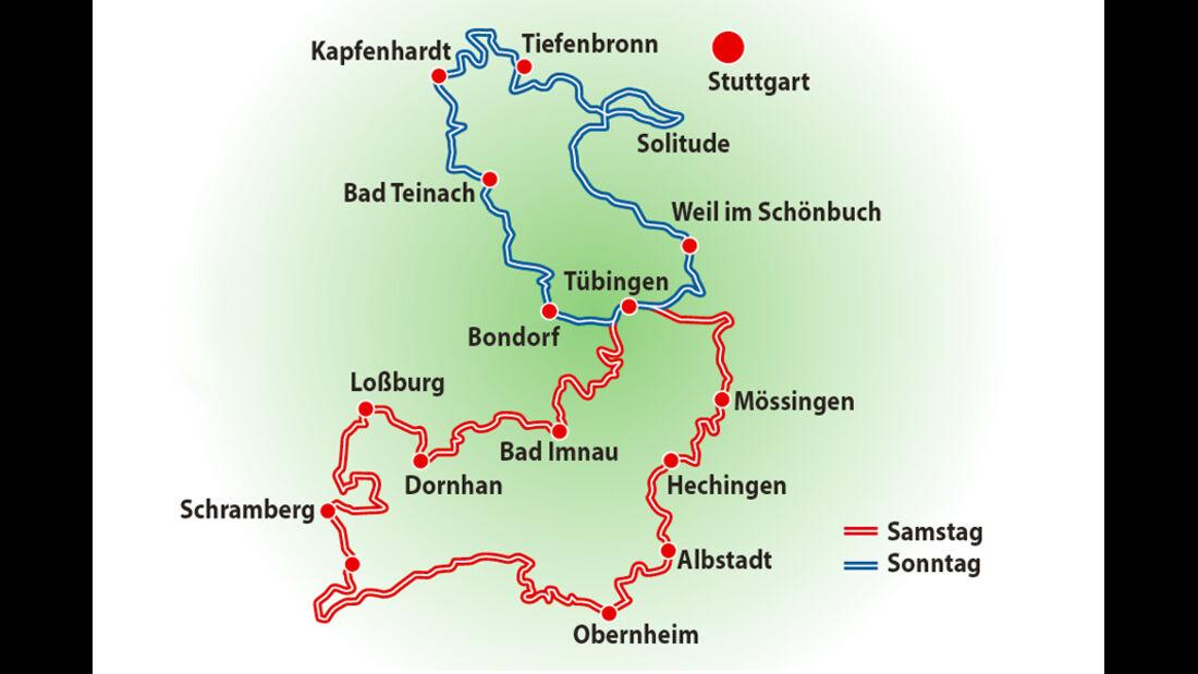 Starmaxx-Rallye, Grafik, Landkarte