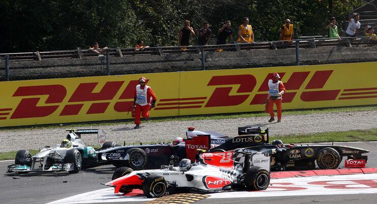 Start-Crash GP Italien 2011