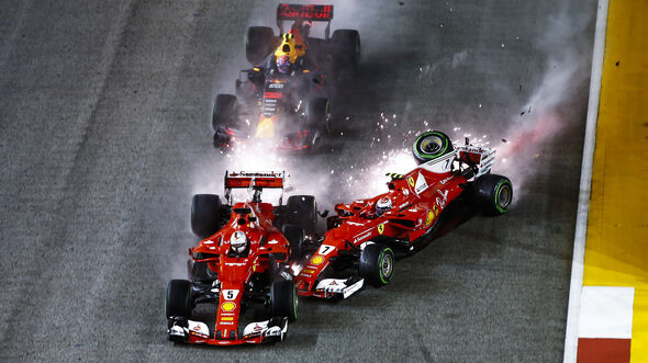 Start-Crash - GP Singapur 2017