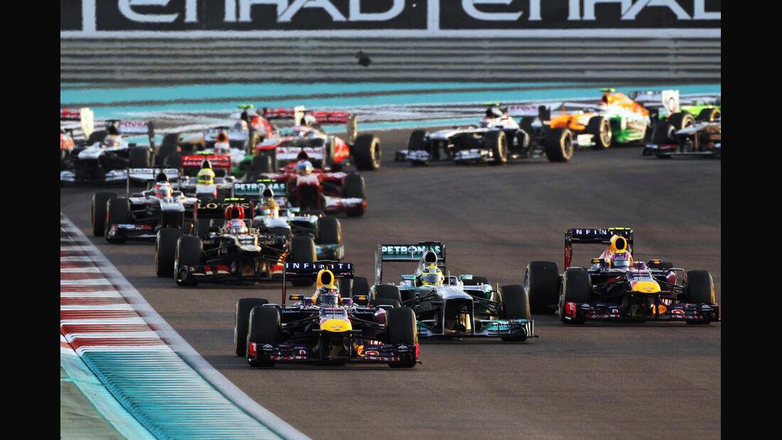 Start - Formel 1 - GP Abu Dhabi - 03. November 2013