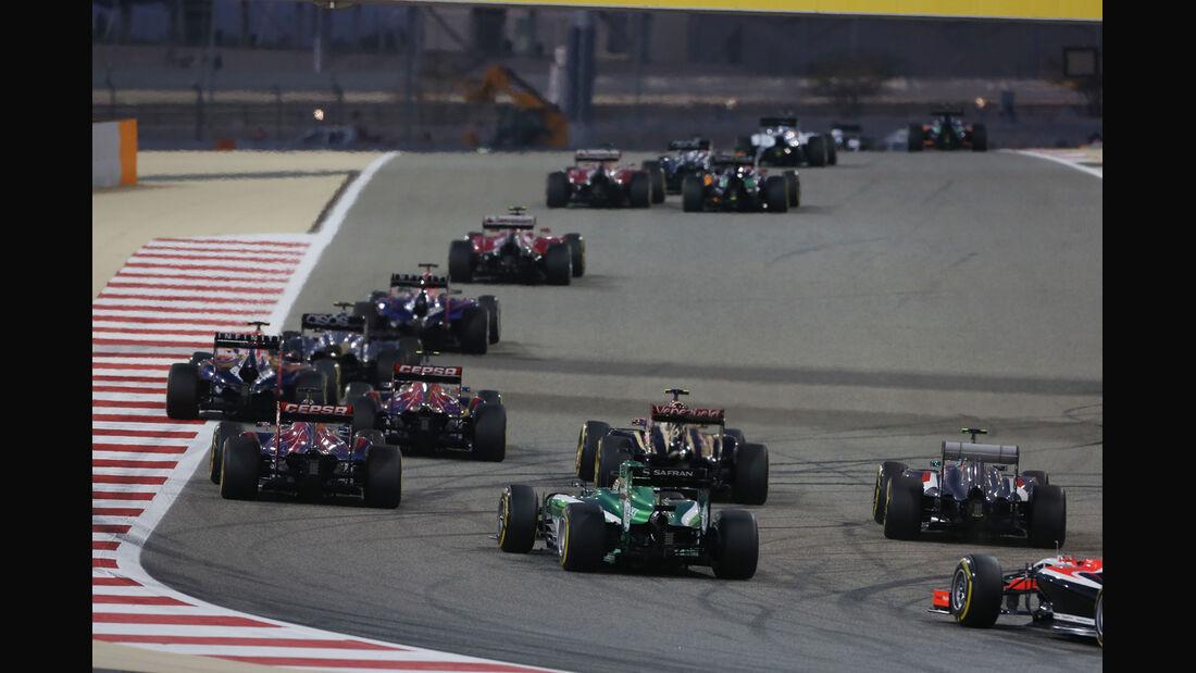 Start - Formel 1 - GP Bahrain 2014