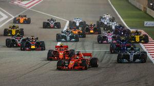 Start - Formel 1 - GP Bahrain 2018