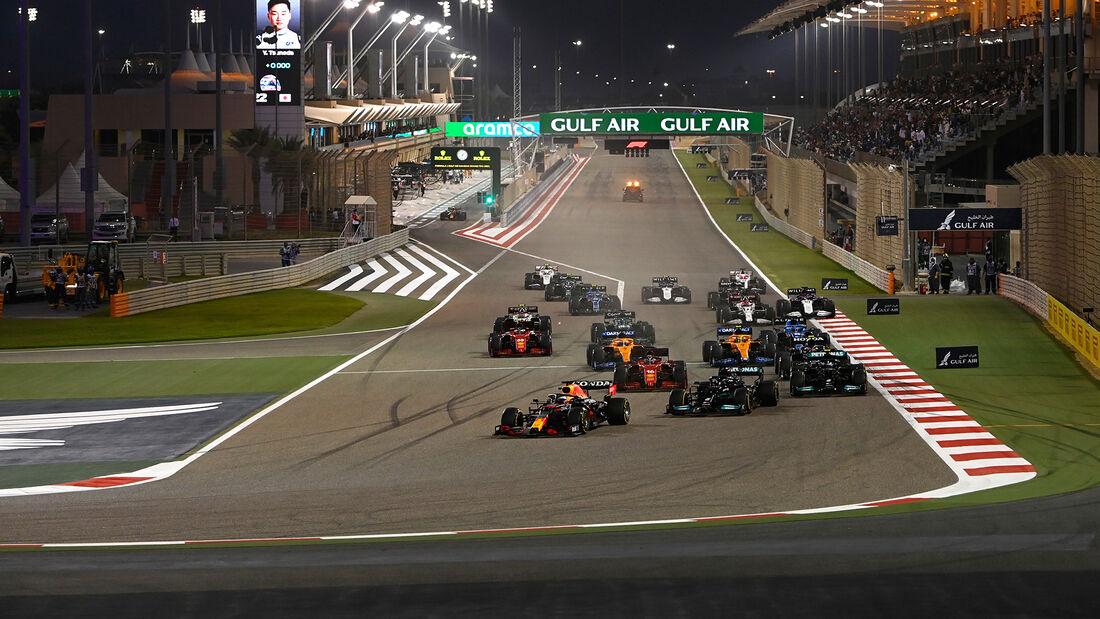 Start - Formel 1 - GP Bahrain 2021 - Rennen