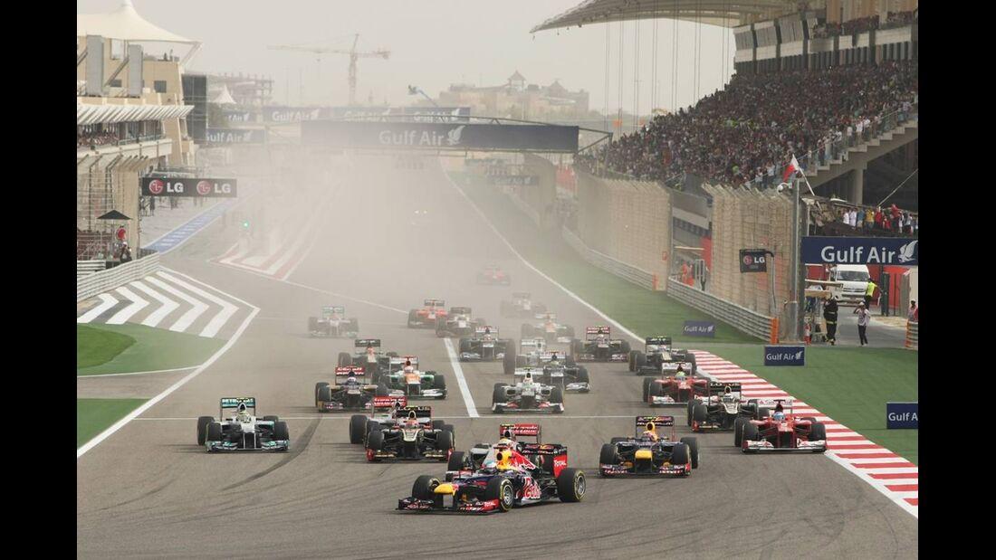 Start  - Formel 1 - GP Bahrain - 22. April 2012