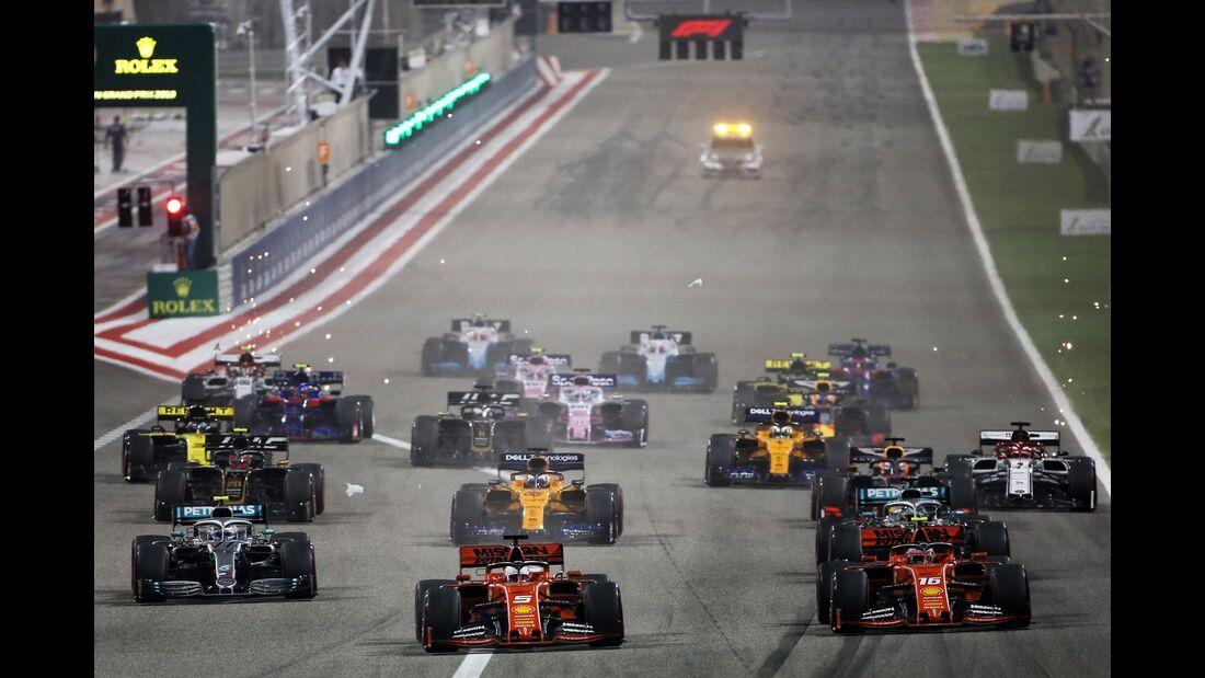 Start - Formel 1 - GP Bahrain - 31. März 2019